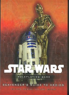 Star Wars Scavengers Guide to Droids: A Star Wars Roleplaying Game Supplement