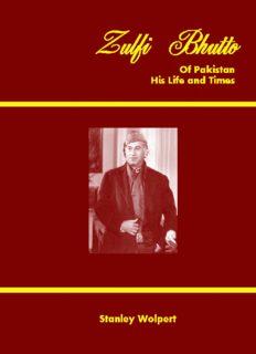 Zulfi Bhutto of Pakistan, by Stanley Wolpert
