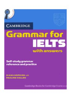 Page 1 CAMBRIDGE canna to Tasters Self-study grammar reference and practice DANA HOPKINS ...