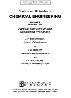 Coulson and Richardson's Chemical Engineering Volume 2 - Particle Technology and Separation Processes