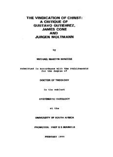 a critique of gustavo gutierrez, james cone and jurgen moltmann