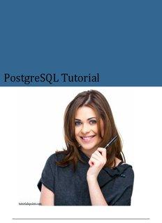Download PostgreSQL Tutorial (PDF Version) - Tutorials Point