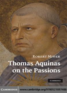 Thomas Aquinas on the Passions