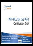 Elizabeth Larson, PMP, CBAP, PMI-PBA Richard Larson, PMP, CBAP, PMI-PBA Watermark ...