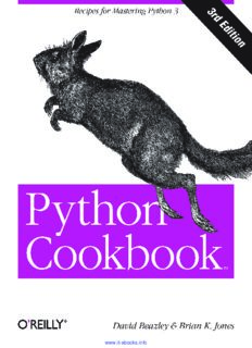 Python Cookbook, 3rd Edition: Recipes for Mastering Python 3