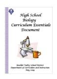 High School Biology Introduction - Boulder Valley School District