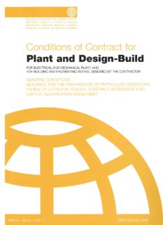 FIDIC Plant and Design-Build Contract 1st Edition 1999