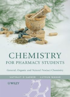 Chemistry for Pharmacy Students: General, Organic and Natural Product Chemistry 2007