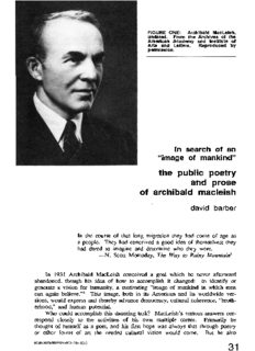 the public poetry and prose of archibald macleish