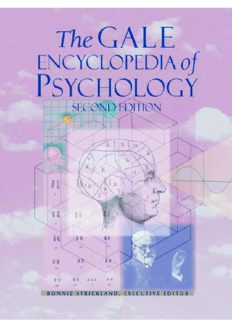 Strickland - Gale Encyclopedia of Psychology 2e..
