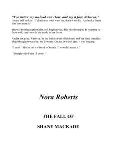 Roberts, Nora - [MacKade Brothers 04] - The Fall Of Shane MacCade
