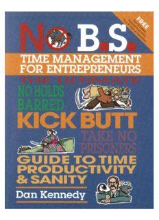 No B.S. Time Management for Entrepreneurs