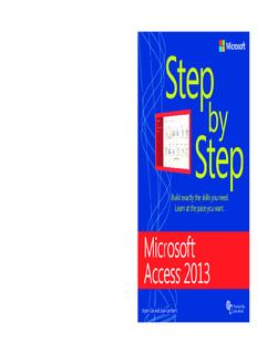 Microsoft Access 2013 Step by Step ebook - Home