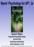 Myers' Psychology for AP®, 2e