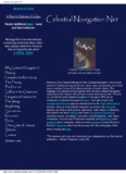 Celestial Navigation Net - Pole Shift Survival Information