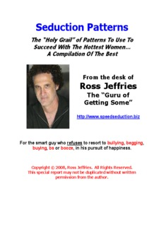 Patterning explained - Ross Jeffries The Game - Official Speed