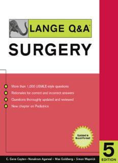 Lange Q&A: Surgery 5th Edition (Lange's Q & A: Surgery)