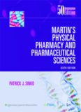 Martins Physical Pharmacy and Pharmaceutical Sciences , 6th Edition
