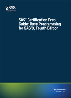 SAS Certification Prep Guide: Base Programming for SAS 9