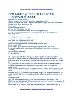One Night at call center by Chetan Bhagat