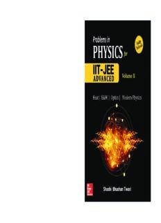 Problems in Physics II for IIT JEE Vol 2 IITJEE main advanced standard 12 XII Shashi Bhusan Tiwari Mc Graw Hill