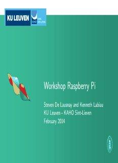 Workshop Raspberry Pi - laras