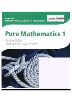 Pure Mathematics 1: Cambridge International As & a Level