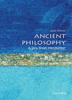 Ancient Philosophy: A Very Short Introduction (Very Short Introductions - 26)