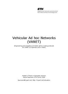 Vehicular Ad hoc Networks (VANET) - Baumann, Rainer (FDP)
