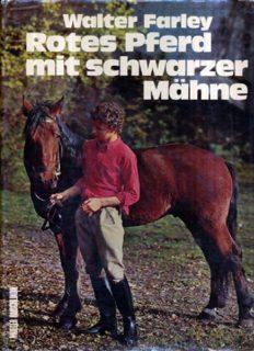 Rotes Pferd mit schwarzer Mähne