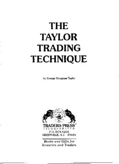 George Douglass Taylor - The Taylor Trading Technique.pdf