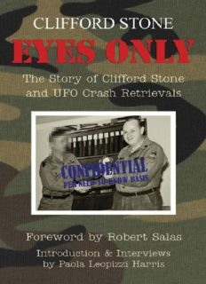 Eyes Only epub - The Story of Clifford Stone and UFO Crash Retrievals