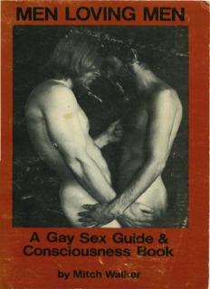 Men Loving Men. A Gay Sex Guide & Consciousness Book