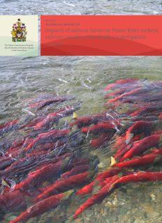 Impacts of salmon farms on Fraser River sockeye salmon
