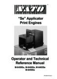 Sato 8485SE manual - SATO America
