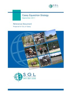 Casey Equestrian Strategy - City of Casey