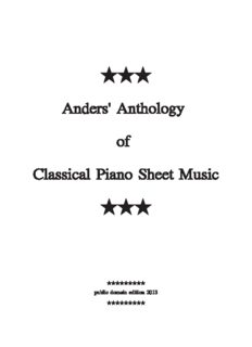 Anders' Anthology of Classical Piano Sheet Music