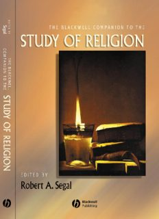 The Blackwell Companion to the Study of Religion (Blackwell Companions to Religion)