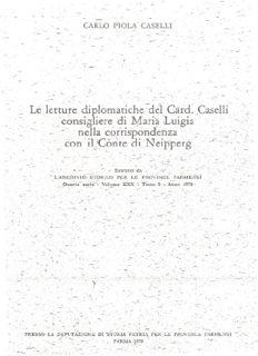 Le)~tture d)plOmatlche~del_CaicL,Caselli' ,