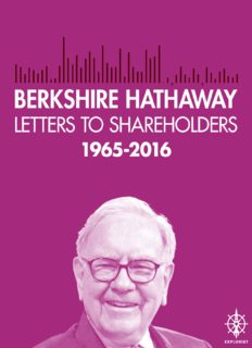 Berkshire Hathaway Letters to Shareholders, 2016