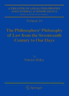 A Treatise of Legal Philosophy and General Jurisprudence: Vol. 9: A History of the Philosophy of Law in the Civil Law World, 1600-1900; Vol. 10: The Philosophers' Philosophy of Law from the Seventeenth Century to our Days