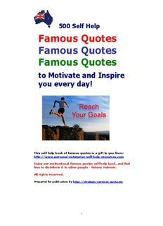 Self Help Book of 500 Famous Quotes - Inspiring Self Help books