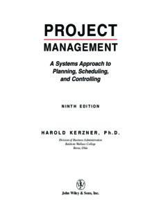 Project Management - Harold Kerzner