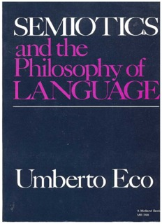 Semiotics and the philosophy of language - Jessica Posner