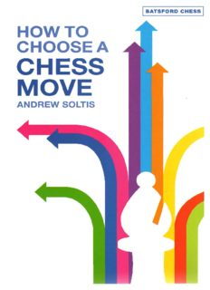 How to Choose a Chess Move (Batsford Chess Books)