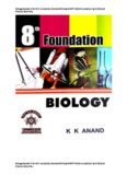 Biology Booklet 1 for 8 th Foundation Standard 8 Class 8 KVPY NSEJS Foundation