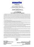Komatsu Ltd. Komatsu Finance America Inc. Komatsu Capital Europe SAUS$1200000000 Euro ...