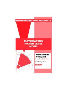 mathematics higher level (core)
