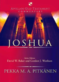 Joshua (Apollos Old Testament Commentary Series)