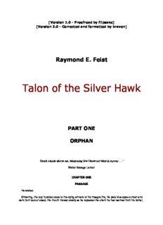 Raymond E. Feist - Conclave of Shadows 1 - Talon of the Silver Hawk